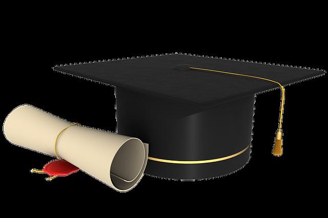Grad cap. Congrats to all the many graduates.